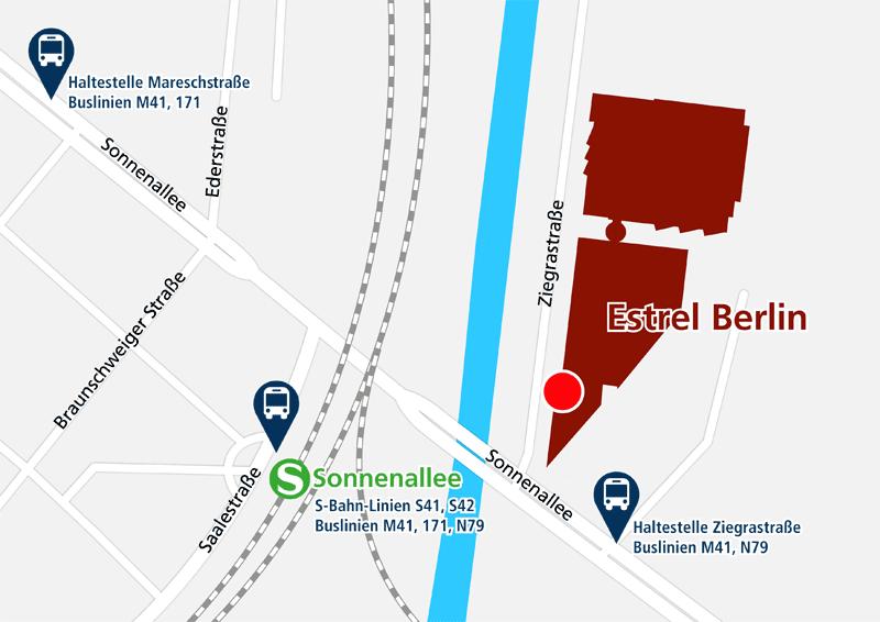 Umgebungskarte Hotel Estrel Berlin