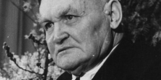 Portrait Hans Böckler (bei einer Rede)